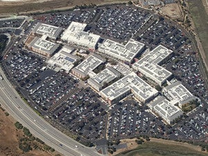 Facebook headquarters aerial