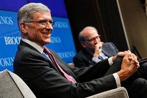 Tom Wheeler speaking at Brookings Institution