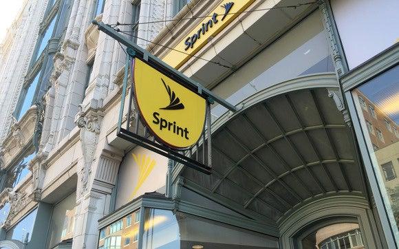 Sprint logo on store in Boston