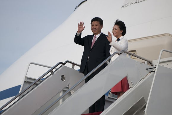Xi Jinping at Joint Base Andrews
