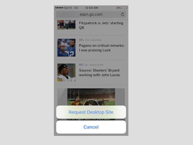 3. desktop mobile site