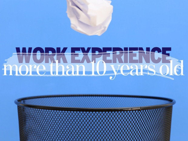 Work experience more than 10 years old