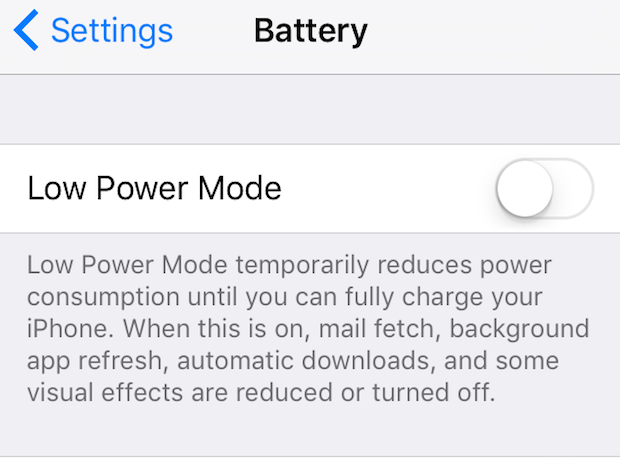 6. low power mode