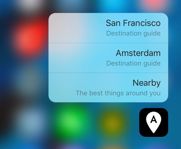 afar travel guide 3d touch