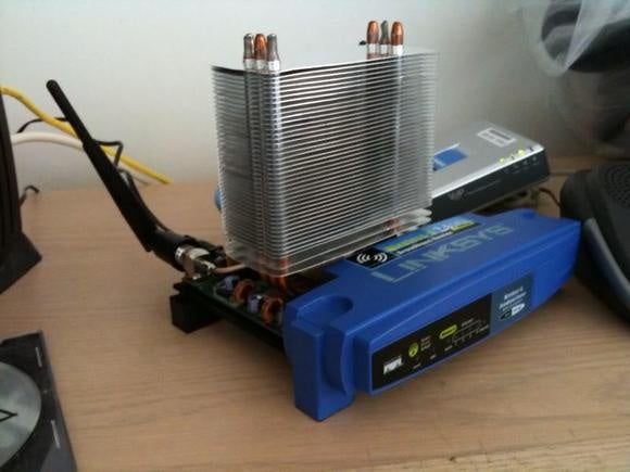 air cooled router heatsink