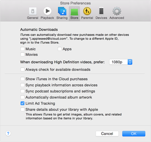 apple ad tracking itunes