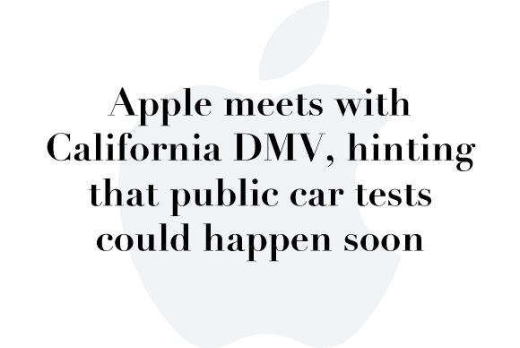 apple california dmv