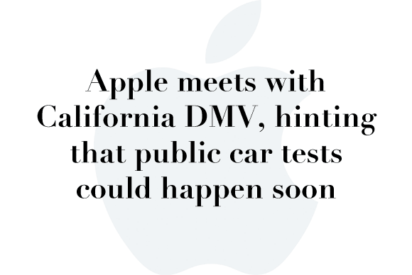 apple california dmv
