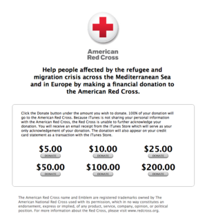 apple europe refugee crisis donations