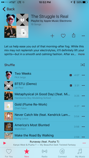 apple music hangover