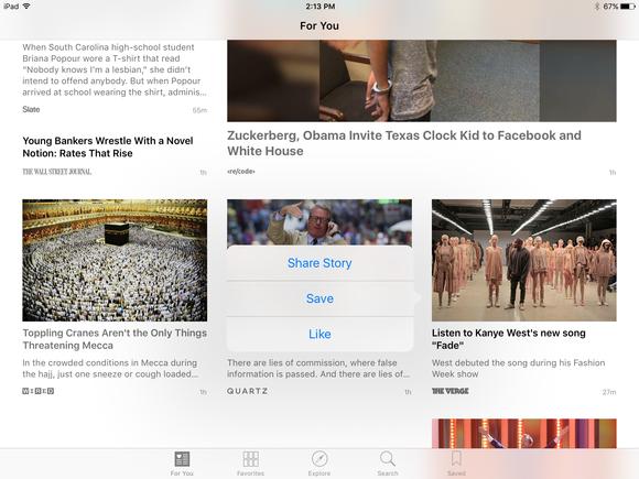 apple news ios 9 like a story