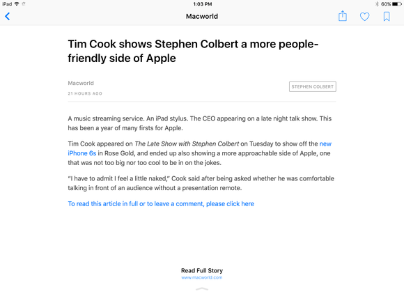 apple news ios 9 macworld