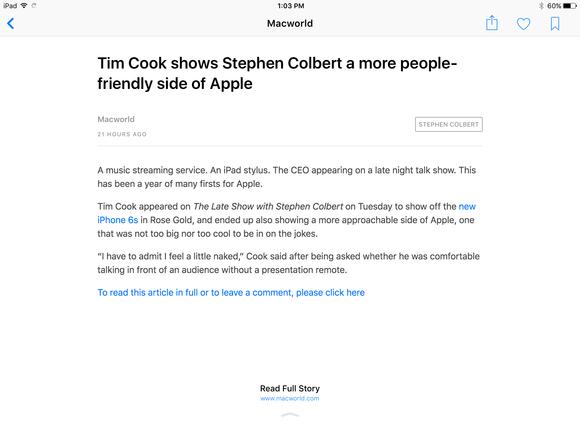 apple news ios 9 macworld