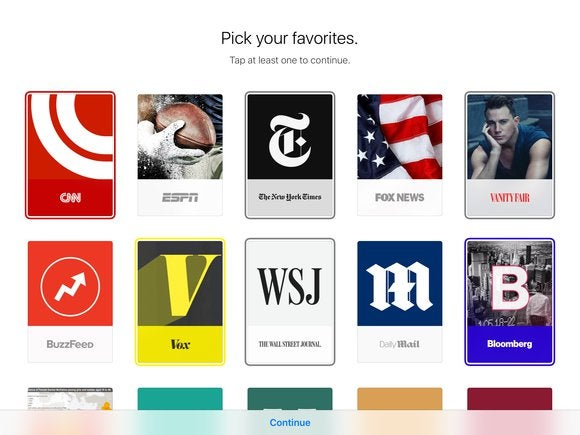 apple news ios 9 pick your favorites