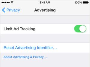 apple turn off ads