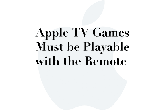 apple tv games remote