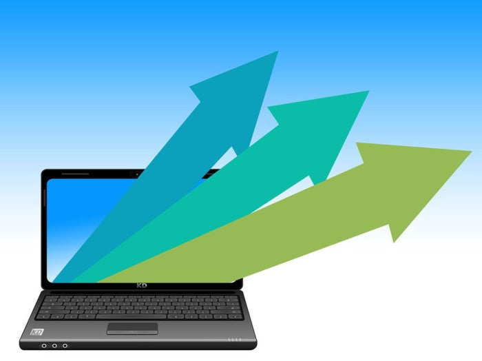 arrows laptop upward outward vectors