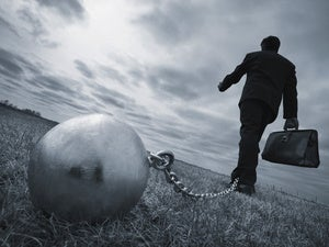 ball and chain debt depression weight problem