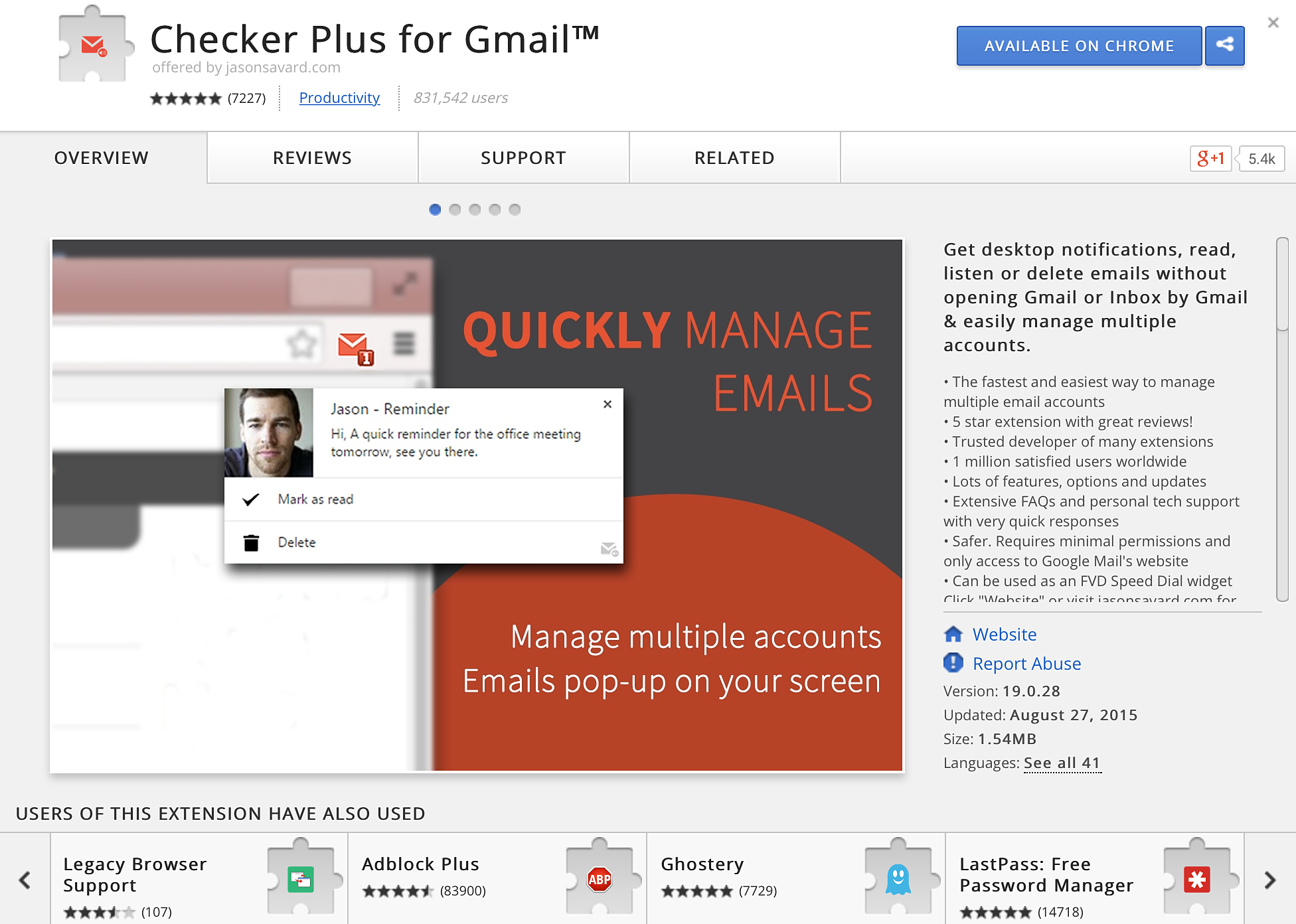 manage multiple gmail accounts chrome