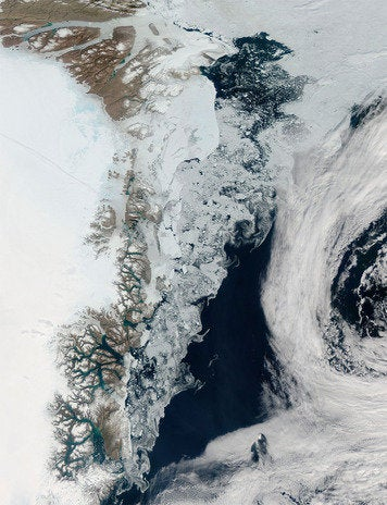 Sea ice off Greenland
