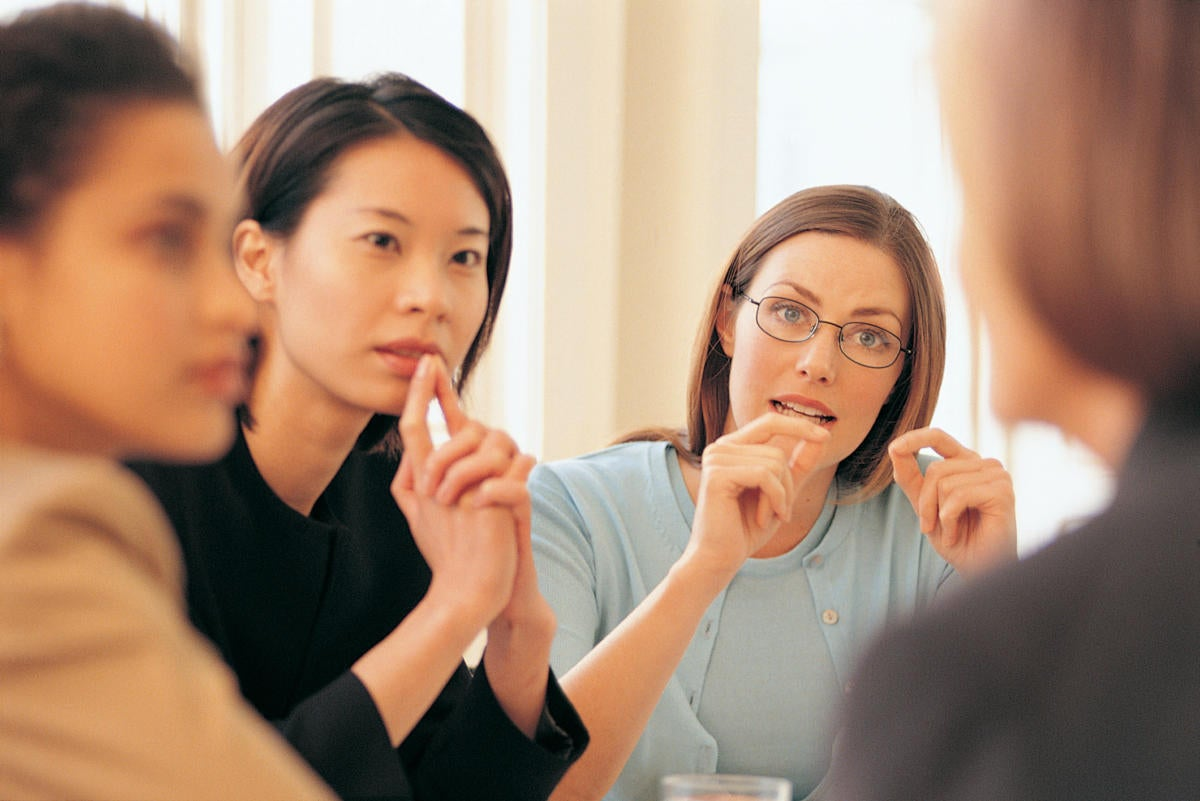 business women meeting leaders teamwork collaboration