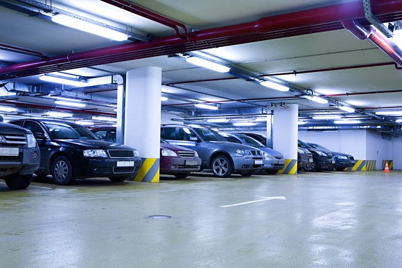 cars parked underground garage