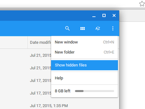 chrome storage window