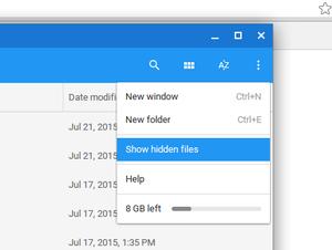 chrome storage window