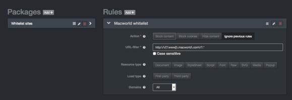 content blocking 1blocker webapp config