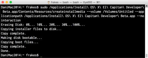 createinstallmedia in terminal