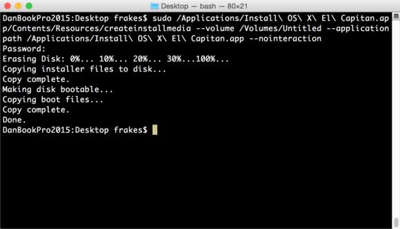 createinstallmedia in terminal final