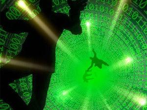 data hole bodies fall tumble code people silhouettes