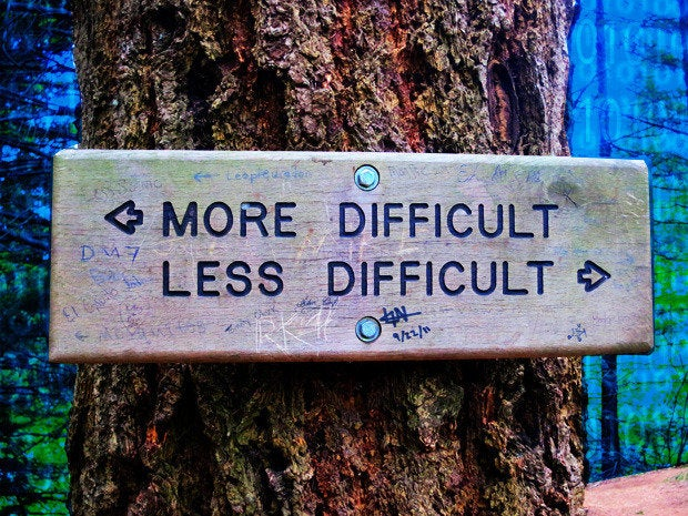 decisions path difficult easy