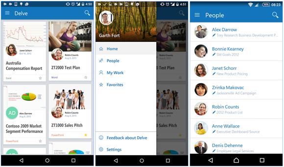delve mobile apps screen