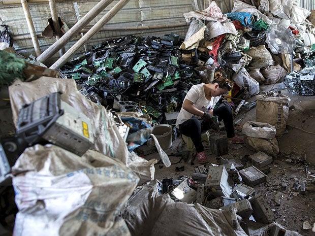 e waste dump china 1
