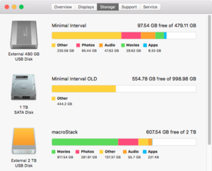 el cap disk utility about this mac storage