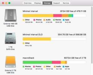 el cap disk utility about this mac storage