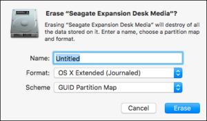 el cap disk utility erase