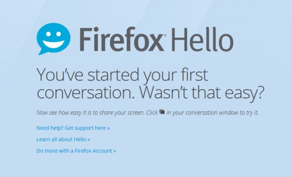 firefox hello splash screen