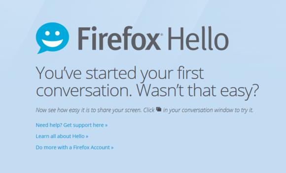 firefox hello splash screen