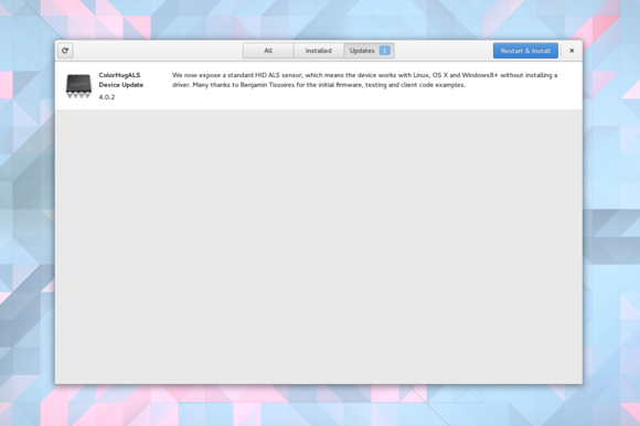 firmware updates GNOME 3.18