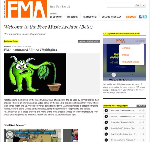 fma main page