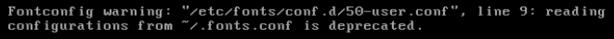 fontconfig warning 50-user conf