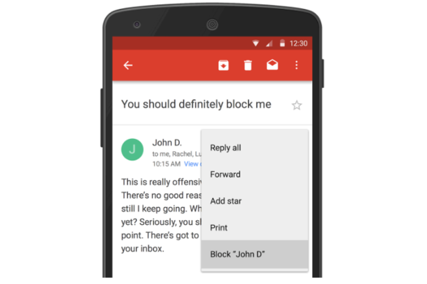 gmail android block