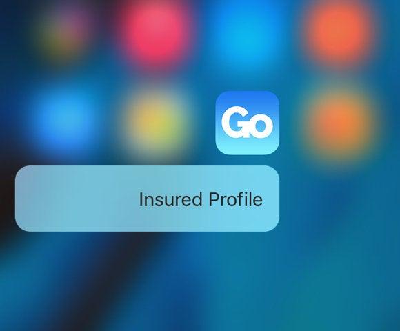 go insurance 3d touch