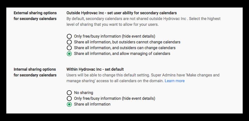 The Mystery Of The Unsharable Google Apps Calendar Macworld
