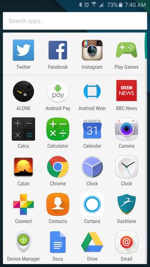 google app drawer