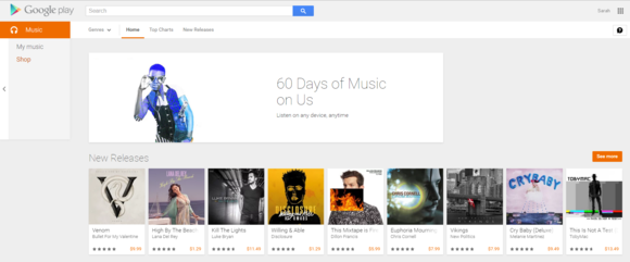 google play main page