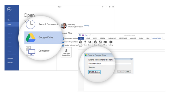 how to send files to google drive from pc