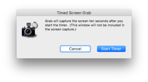 grab timed screen